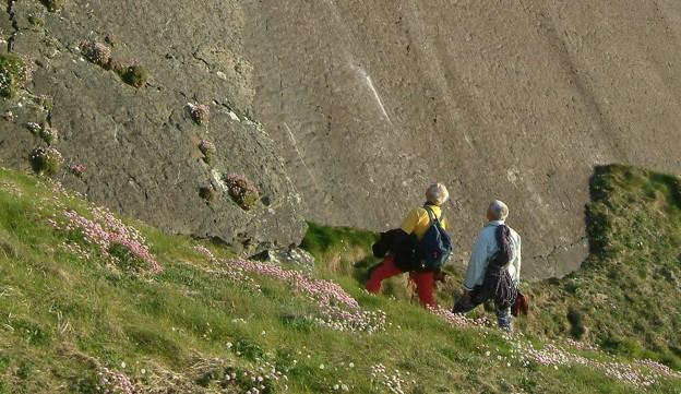 Klippenklettern in Irland 2004